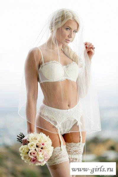 Потрясающий соблазн от невесты в белье